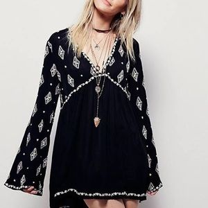 Free people diamond embroidered xs top